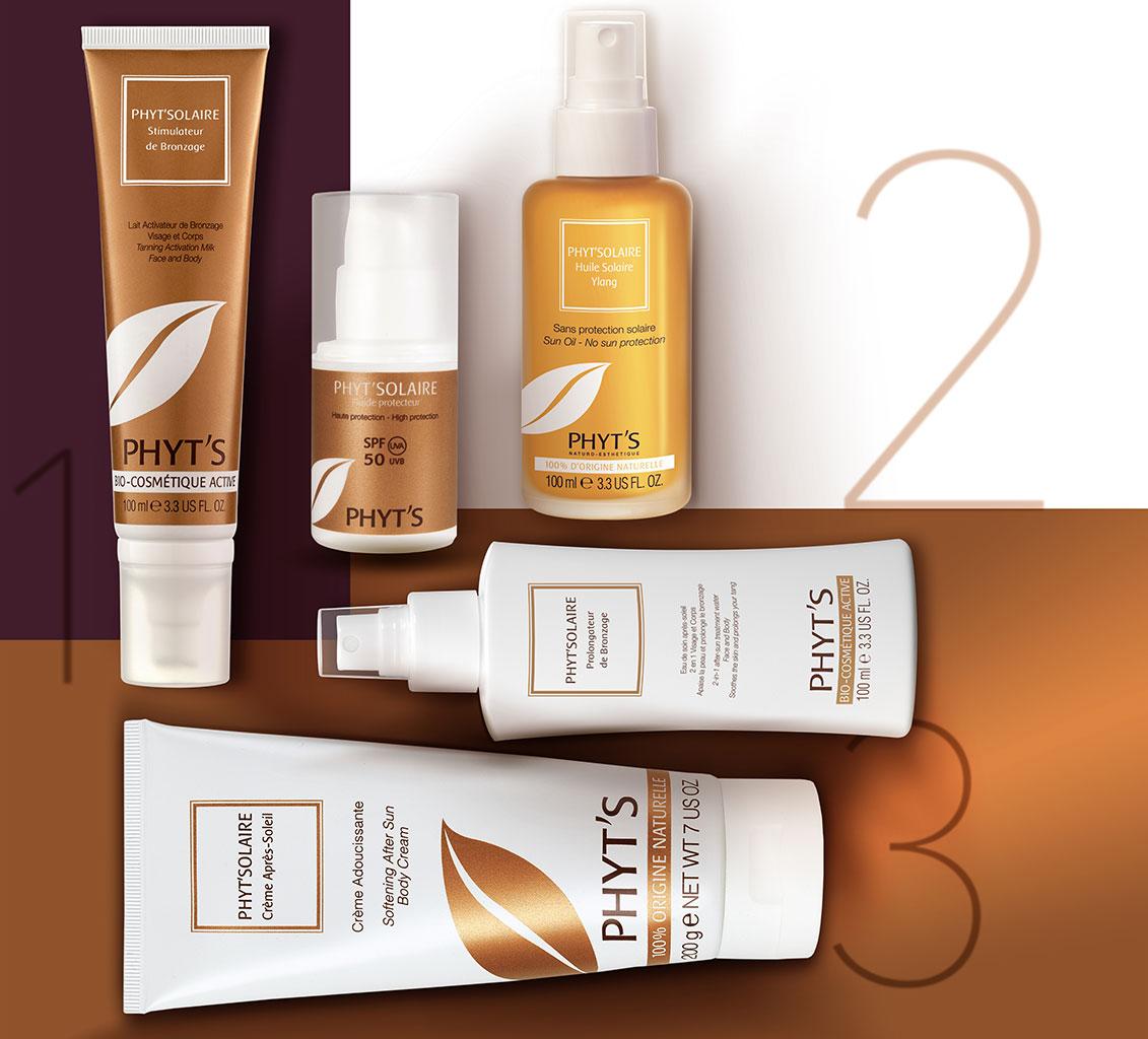 2a1b7b0592 Pour profiter de ses bienfaits, Phyt's a conçu une ligne de Crèmes solaires  certifiées bio, Phyt'Solaire, qui accompagne la peau ...